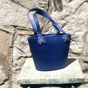 Tiny blue novelty purse